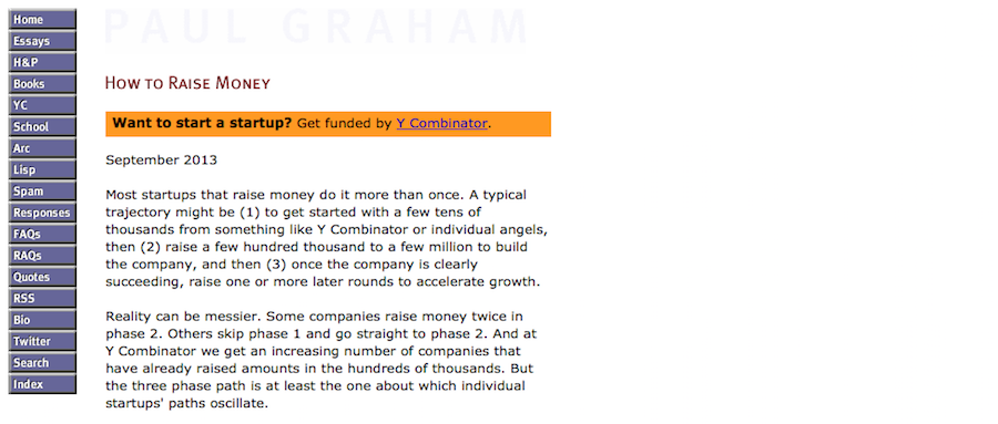 Content marketing by investor Paul Graham