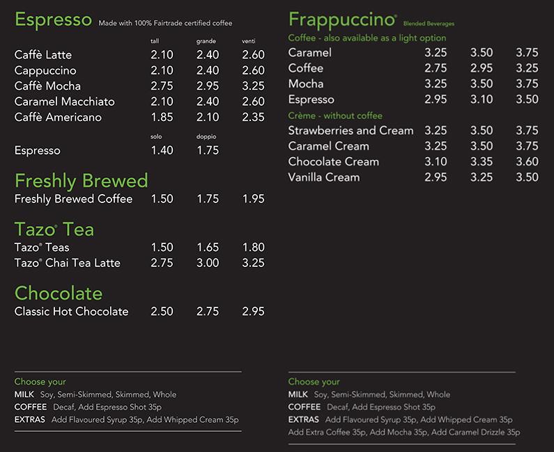 Starbucks upsel marketing technique
