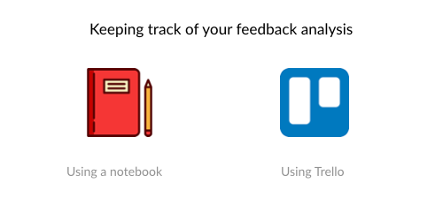 Keeping track of your feedback analysis