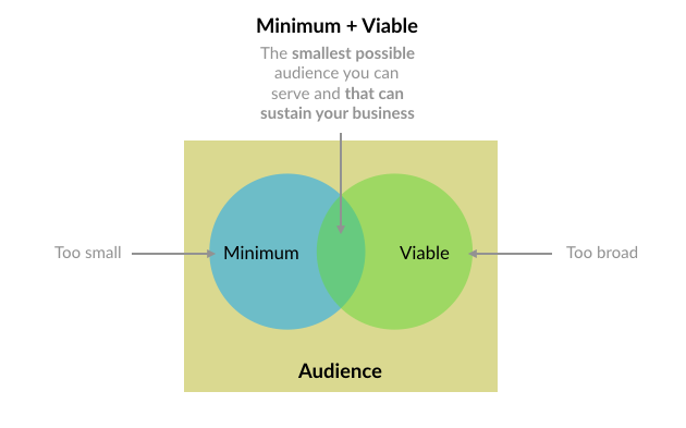 Definition of the minimum viable audience