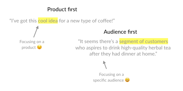 Product-oriented marketing vs. Audience-oriented marketing