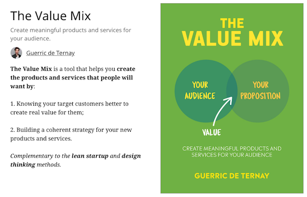 The Value Mix, book available on Leanpub